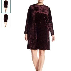 NWT London Times Crushed Velvet Dress